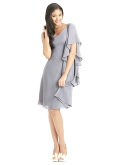A-Line/Princess One-Shoulder Knee-Length Chiffon Bridesmaid Dress