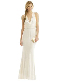 Trumpet/Mermaid V-neck Floor-Length Charmeuse Evening Dress With Ruffle