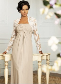 Empire Strapless Sweetheart Floor-Length Chiffon Mother of the Bride Dress With Ruffle