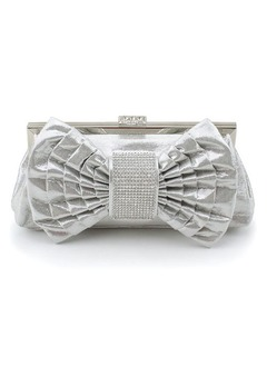 Fashional Faux Leather With Bowknot/Rhinestone Clutches
