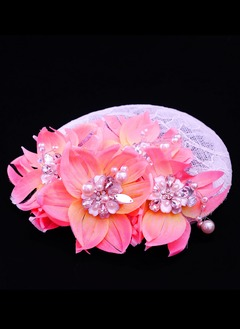 Gorgeous/Special Rhinestone/Alloy/Imitation Pearls/Net Yarn/Silk Flower/Cambric Fascinators