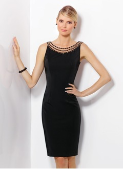 Sheath/Column Scoop Neck Knee-Length Jersey Cocktail Dress  ...