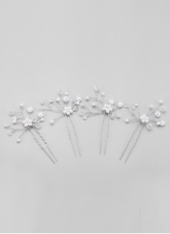 Simple/Pretty Crystal/Alloy/Imitation Pearls Hairpins (0425101384)