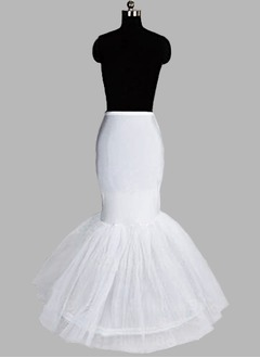 Women Nylon/Tulle Netting Floor-length 1 Tiers Petticoats (03705028705)