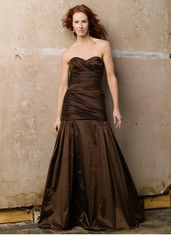 A-Line/Princess Sweetheart Floor-Length Taffeta Mother of the Bride Dress With Ruffle