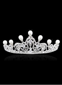 Fashion Rhinestone/Alloy/Imitation Pearls Tiaras (0425093752)