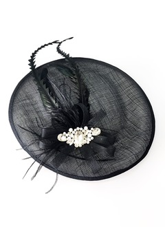 Elegant/Unique/Luxurious Net Yarn/Feather/Cambric Headpiece