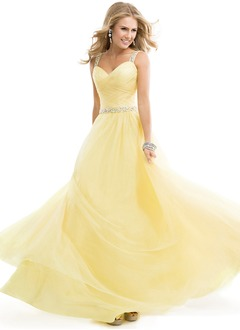Ball-Gown Sweetheart Floor-Length Tulle Prom Dress With  ...