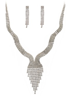 Gorgeous Legering med Strass Damer' Smycken Sets