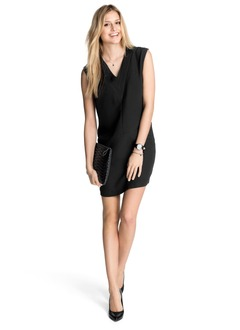 Sheath/Column V-neck Short/Mini Chiffon Cocktail Dress (0165060016)