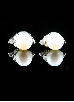 Elegant Alloy With Pearl Women's Earrings