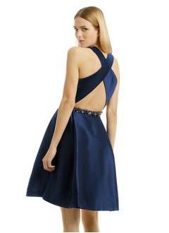 A-Line/Princess Scoop Neck Short/Mini Satin Cocktail Dress With Beading