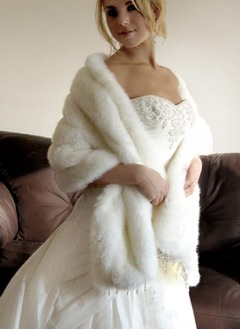 Feather/Fur Wedding Shawl