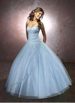 Ball-Gown Strapless Sweetheart Floor-Length Satin Tulle Quinceanera Dress With Ruffle Beading