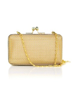 Tulle/Stainless Steel Clutches