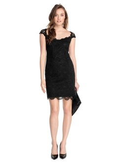 Sheath/Column Sweetheart Short/Mini Lace Cocktail Dress