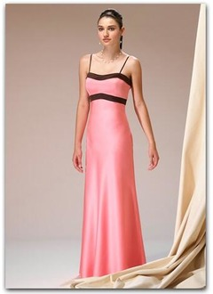 Sheath/Column Sweetheart Floor-Length Charmeuse Bridesmaid Dress With Sash
