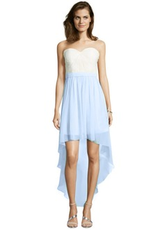 A-Line/Princess Strapless Sweetheart Asymmetrical Chiffon Cocktail Dress With Ruffle