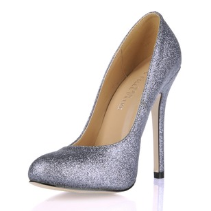 Sparkling Glitter Stiletto Heel Pumps Closed Toe With Sparkling Glitter shoes