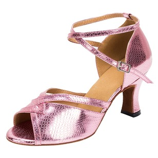 Women's Heels Latin With Ankle Strap Dance Shoes