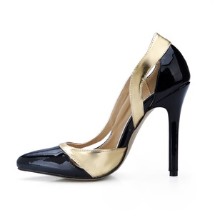 Patent Leather Stiletto Heel Pumps Closed Toe shoes (0855100525)