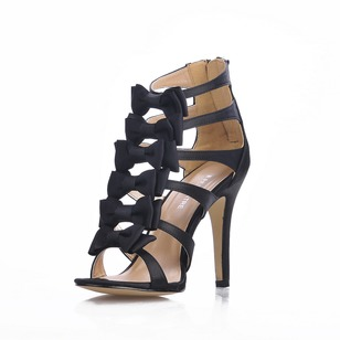 Silk Like Satin Stiletto Heel Peep Toe shoes