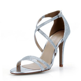 Sparkling Glitter Stiletto Heel Sandals Pumps shoes (0875100829)