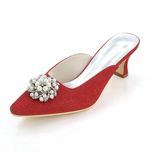 Women's Sparkling Glitter Others Pumps With Flower