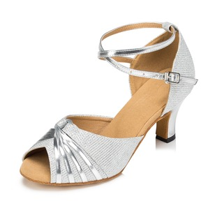 Women's Leatherette Sparkling Glitter Heels Sandals Modern Dance Shoes