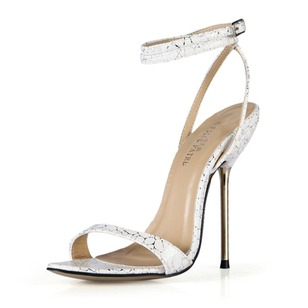 Leatherette Stiletto Heel Sandals Slingbacks With Buckle shoes (0875100492)