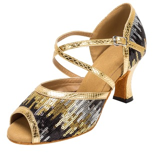 Women's Heels Latin Modern With Ankle Strap Dance Shoes