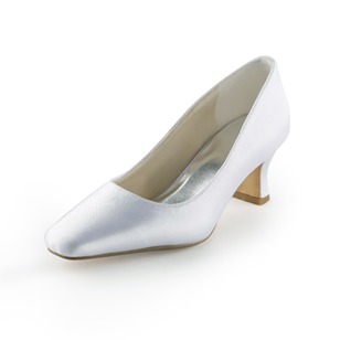 Vrouwen Satijn Low Heel Closed Toe Pumps (0475119293)