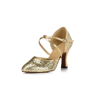 Women's Sparkling Glitter Heels Dance Shoes