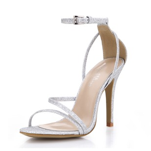 Sparkling Glitter Stiletto Heel Sandals shoes