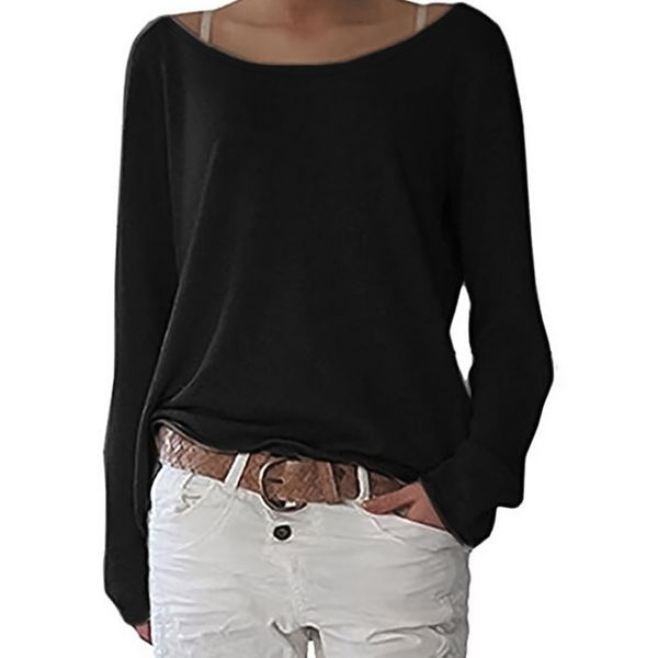 Boat Neckline Solid Casual Loose Regular Shift Sweaters (1675348764)
