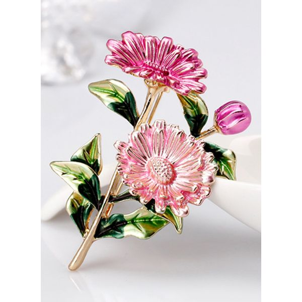 Floral No Stone Brooches (1925595968)