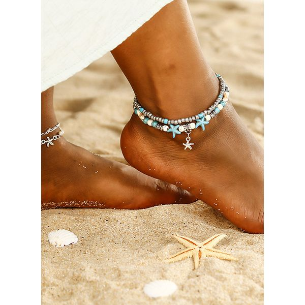 Casual No Stone Ball Anklet (1905562870)