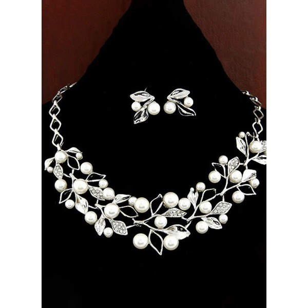 Ball Round Pearls Necklace Earring Jewelry Sets (1935301266) 11