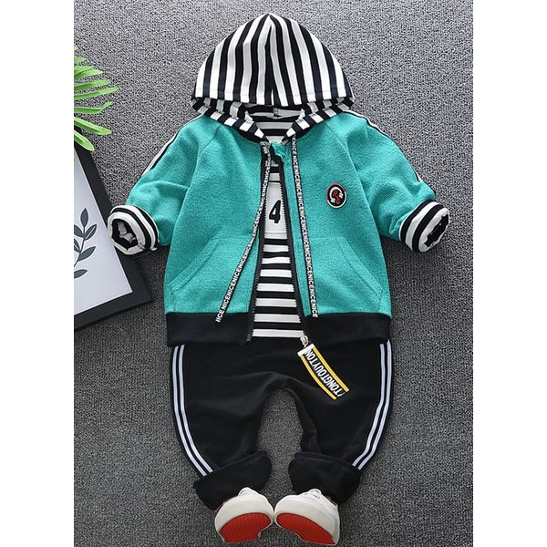 Boys' Cool Stripe Going out Long Sleeve Clothing Sets (30165348621) 5