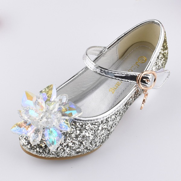 Girls' Buckle Crystal Flower Sparkling Glitter Party & Evening Girls' Shoes (30195294737) 8