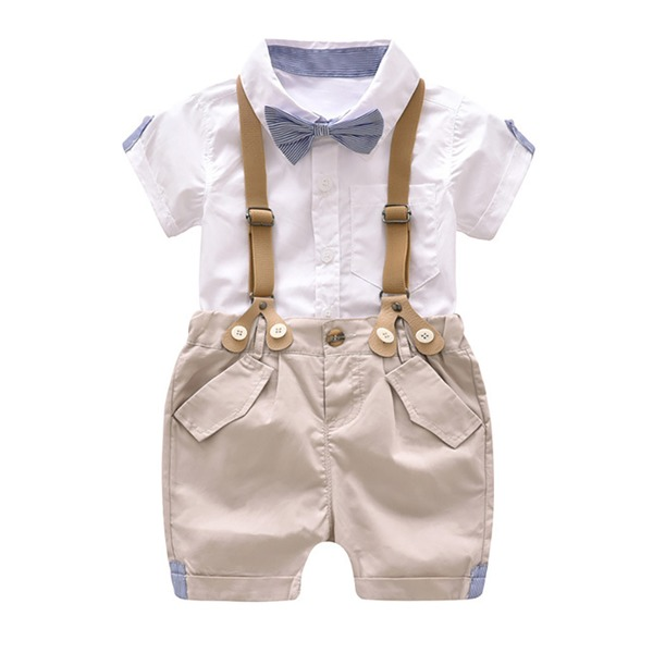 Boys' Color Block Going out Short Sleeve Clothing Sets (30165285437) 1