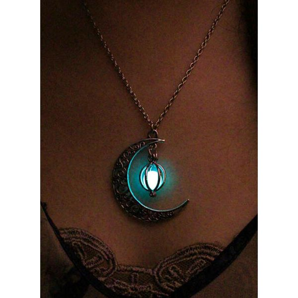 Club Ball Moon Crystal Pendant Necklaces (1845591922)