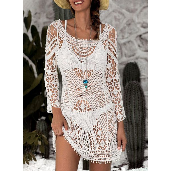 Crochet Cover-Ups Swimwear (30015378825) 1