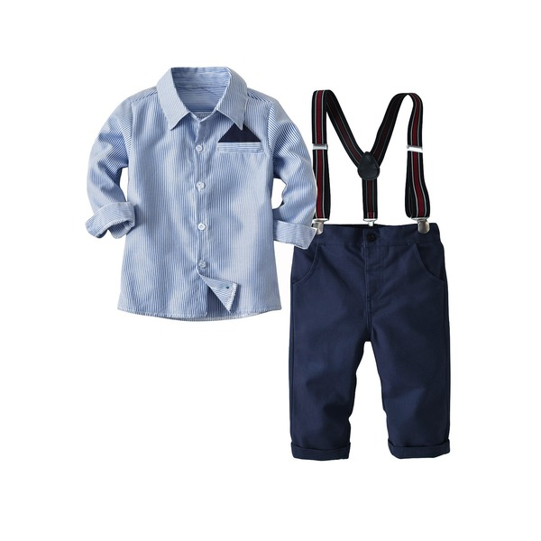 Boys' Color Block Going out Long Sleeve Clothing Sets (30165317015)