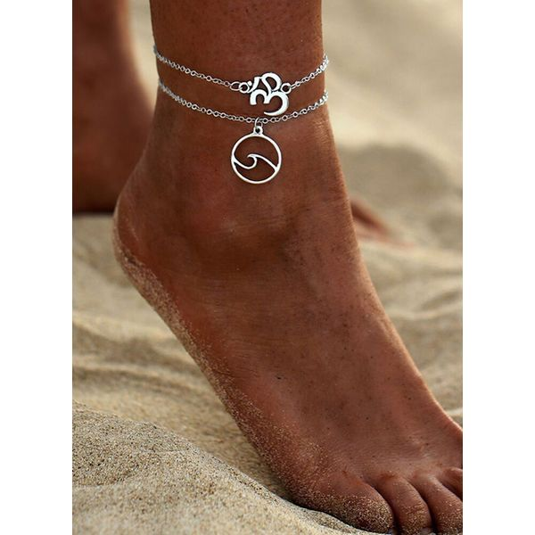 Casual No Stone Geometric Anklet (1905591412)