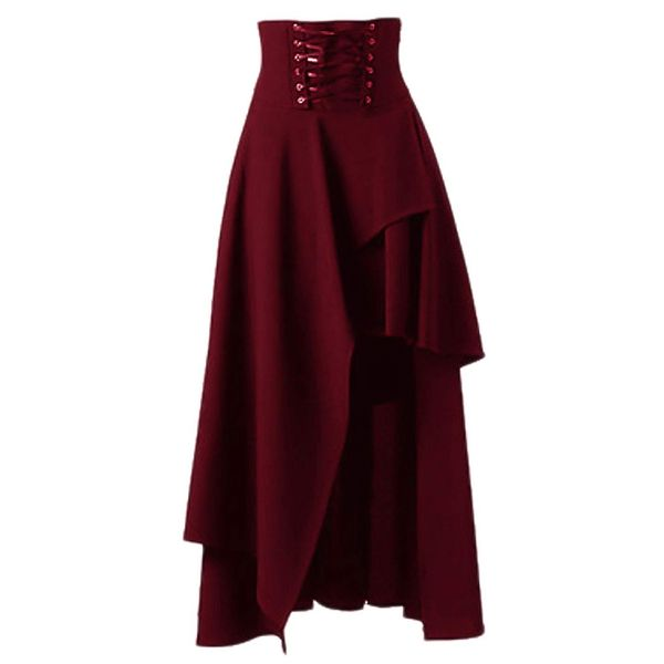 Solid Mid-Calf Casual Skirts (1725373420) 7