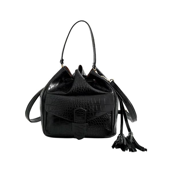 Shoulder Vintage Tassel Double Handle Bags (1825379116) 5