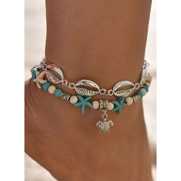 Casual No Stone Ball Anklet (1905562871)