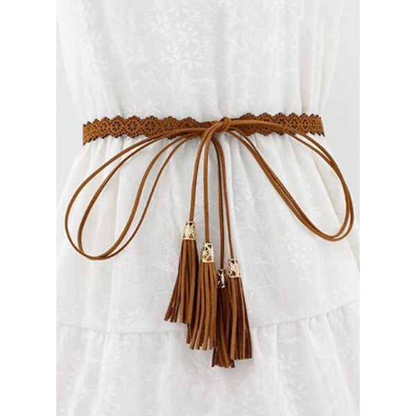 Hollow Out Tassel Solid Belts (1795279703) 11