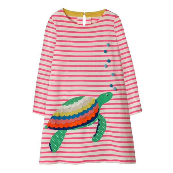 Girls' Casual Animal Daily Long Sleeve Dresses (30135339426) 6